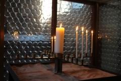 Kerzen der Gebetsecke